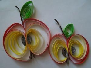 яблочки в технике «Квиллинг»